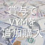 【資産運用報告】賞与(ボーナス)で米国株!VYM(バンガード 米国高配当株式ETF)を追加購入したよ