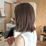 岐阜県美容院バッサリカット切りっぱなしボブと白髪染め レアーリ可児でも人気のスタイル