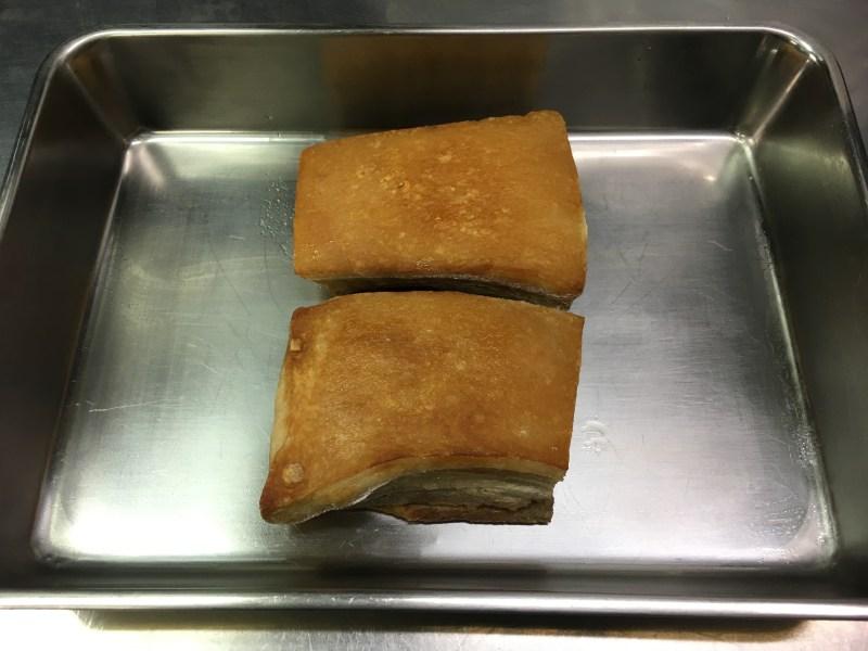 豚バラ肉、揚げ後