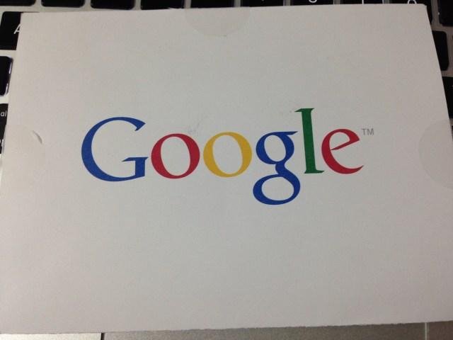 Googleからのハガキ