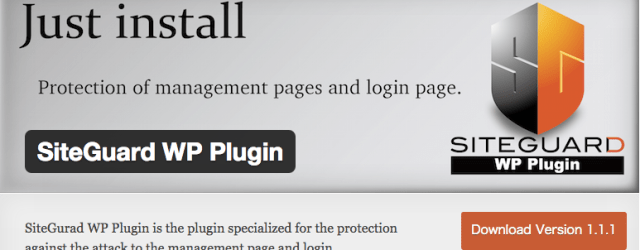 SiteGuard wp login