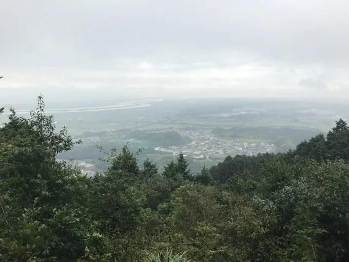 多度山健脚コース6合目からの景色