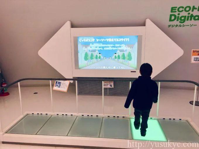 川越電力館テラ46のプレイランドECOトレ・デジタルシーソー