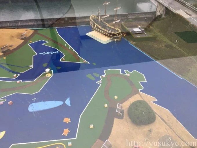 川越電力館テラ46川越展望サロンからジオランドを眺める