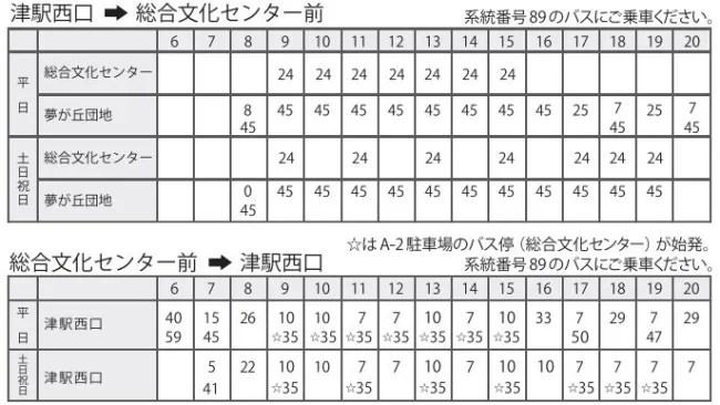 三重県総合博物館時刻表