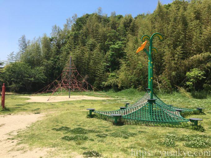 中勢グリーンパークのネット遊具