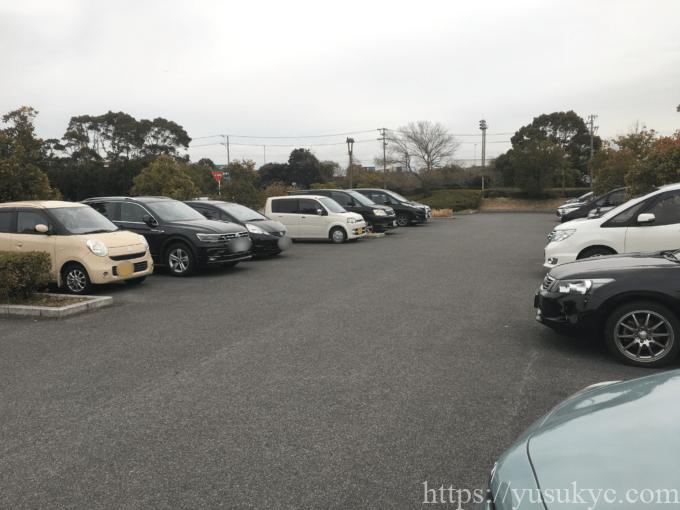 霞港公園の駐車場