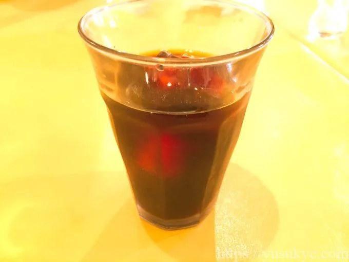 ピッツェリアモトリーノのドリンク(アイスコーヒー)
