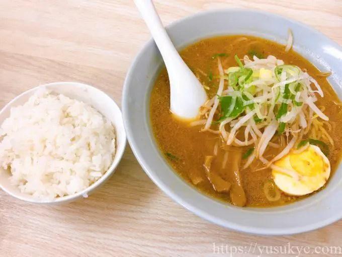 華鈴(かりん)のメニュー(味噌ラーメン・ご飯セット)