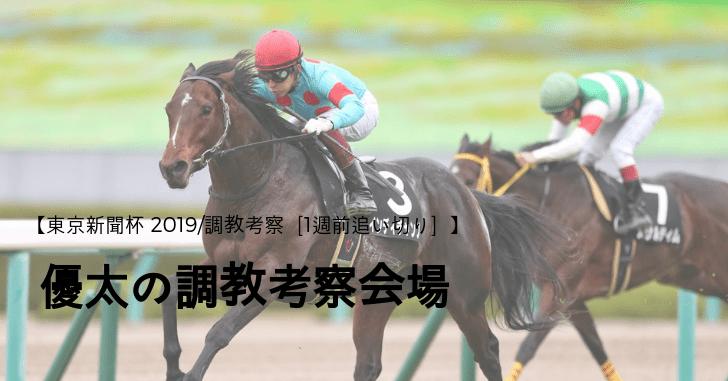 【東京新聞杯 2019/調教考察[1週前追い切り]】