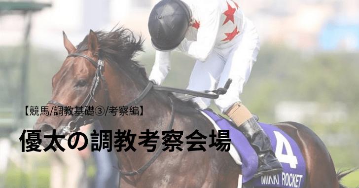 【競馬/調教基礎③/考察編】