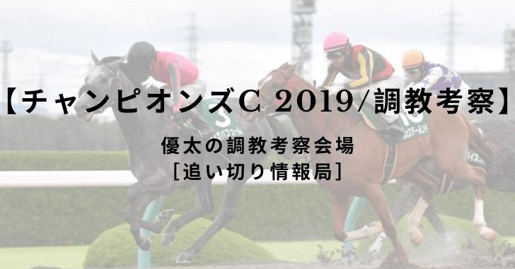 【チャンピオンズC 2019/調教考察】