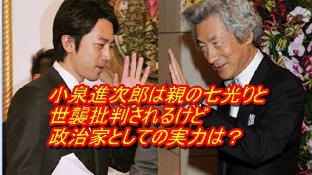 小泉進次郎は親の七光りと世襲批判されるけど政治家としての実力は?_アイキャッチ