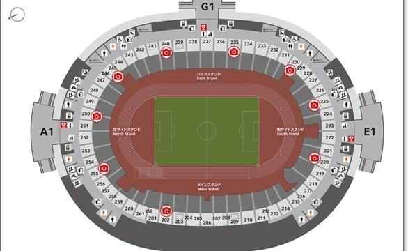 天皇杯決勝@新国立競技場の座席表!ホーム&アウェイの配置は?2st