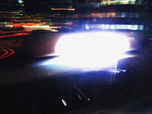 歩道橋の灯り