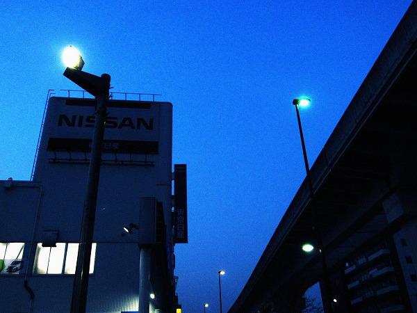 夕方の青い空