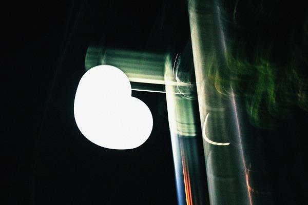 ハートの街灯