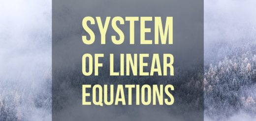 The possibilities for the solution set of a system of linear equations