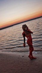 Asuka Standing on the Shore