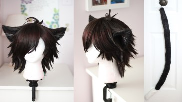 Cheshire wig & tail
