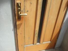 ビフォアー玄関木製