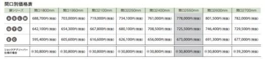 Bb価格表フロアスライドプラン