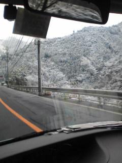 前日の雪しっかり残ってます