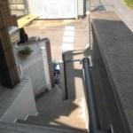 結構急な階段手すり設置しました