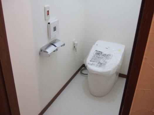 トイレはタンクレス低水圧仕様マンションだから