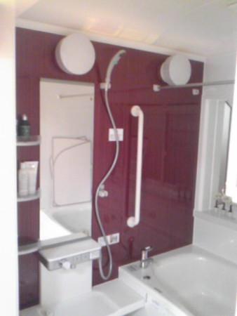 川越TOTOショールーム展示中の浴室