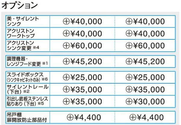 ラクエラオプション価格表