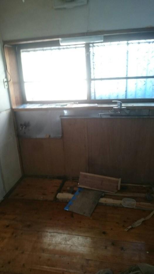 キッチン解体済み