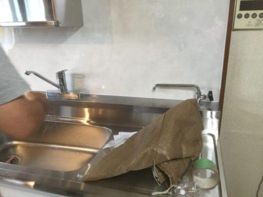 大理石調キッチンパネル