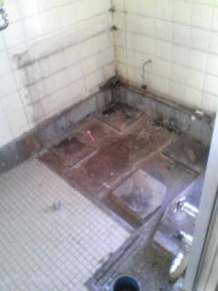 お風呂解体しました