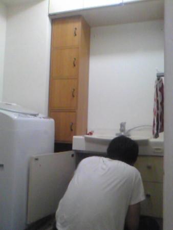 既存洗面台