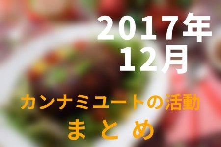 2017年12月カンナミユートの活動まとめ
