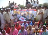 villagers agitating