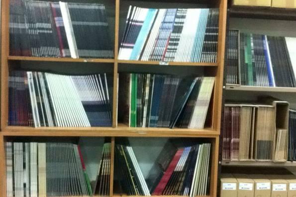 הצצה לכור התקליטים בהליקון. צילום: איתן טובי