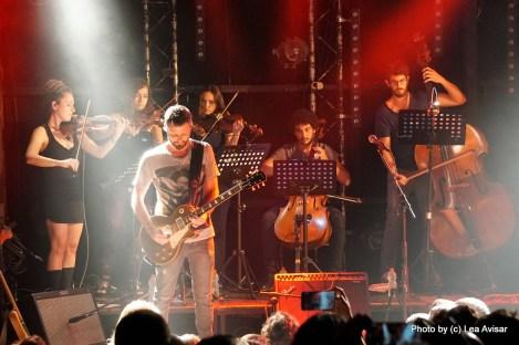 קונצרט לתזמורת ולהקה. צילום: לאה אבישר
