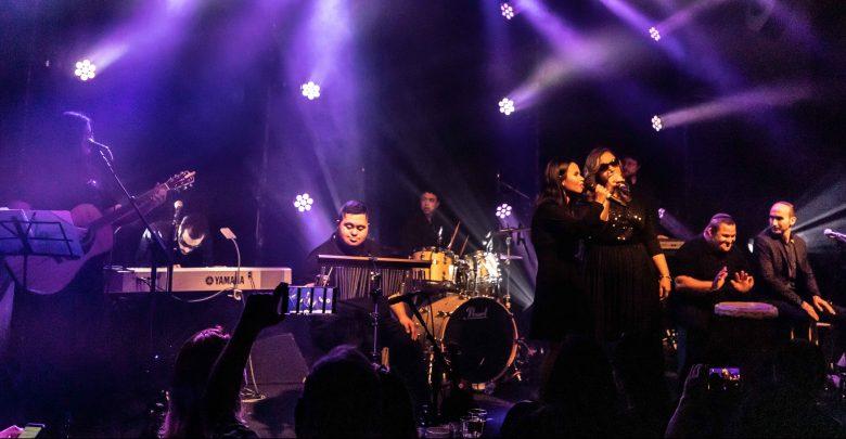 להקת שלוה במועדון זאפה תל אביב. צילום טוני פיין