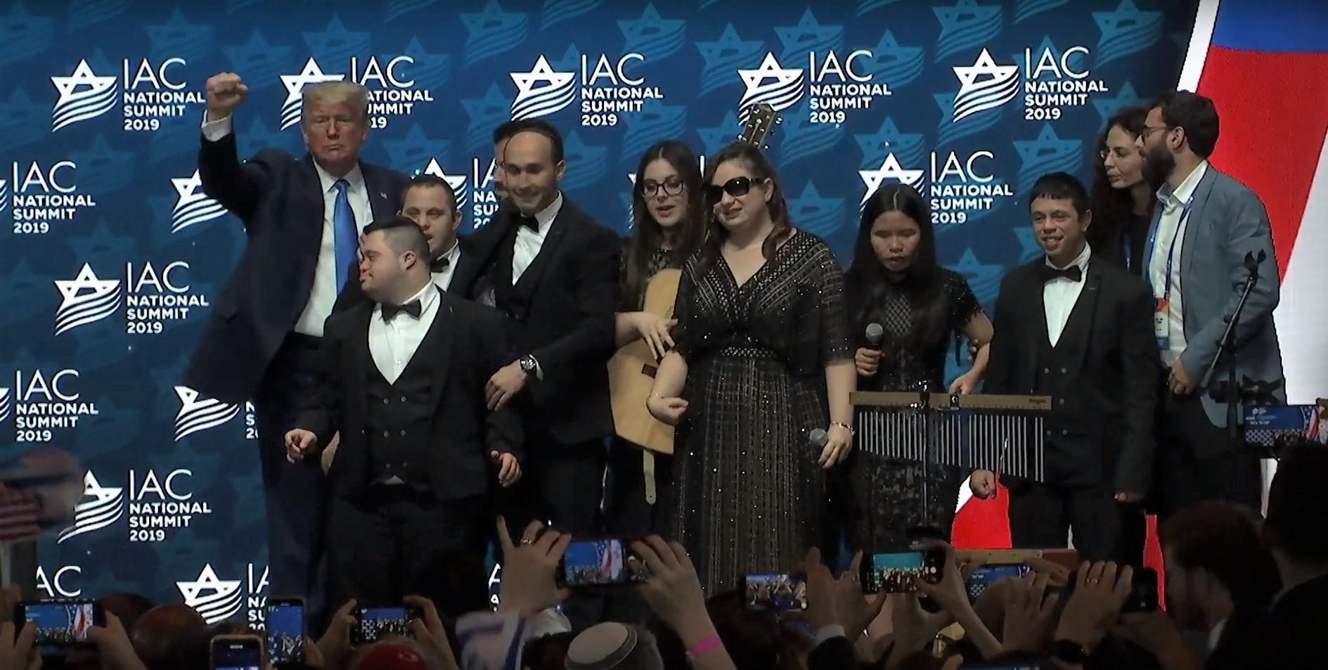 """להקת שלוה ונשיא ארה""""ב טראמפ. צילומסך"""