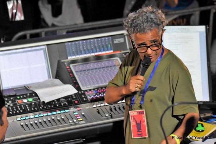 ליאור טבת, טכנאי קול- עצרת הזדהות עם אנשי תעשיית המוזיקה. צילום יובל אראל