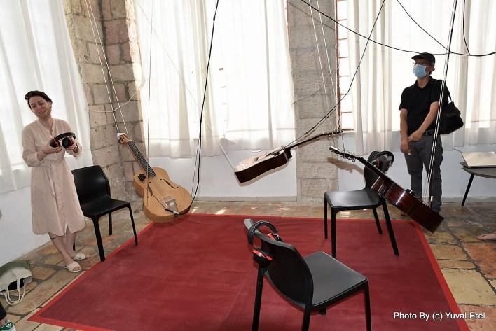 עבודות סאונד, תערוכת בוגרי מוסררה 2020. צילום יובל אראל