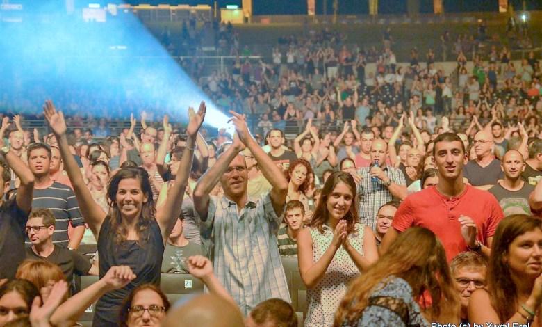 קהל שמח בלייב פארק ראשון. צילום יובל אראל