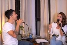 """Photo of במופע לכבוד ט""""ו באב אירח הראל סקעת את אניה בוקשטיין"""