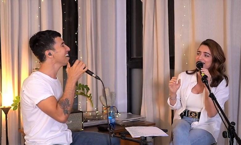 הראל סקעת ואניה בוקשטיין בשידור ישיר. צילומסך