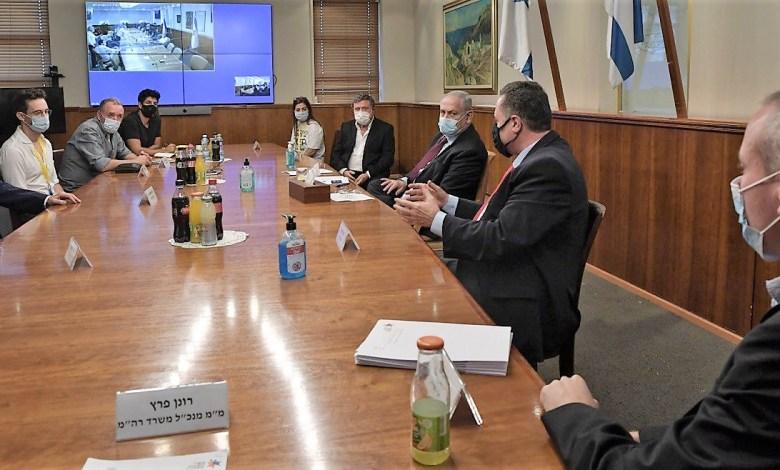 """הפגישה עם ראש הממשלה. צילום קובי גדעון לע""""מ"""