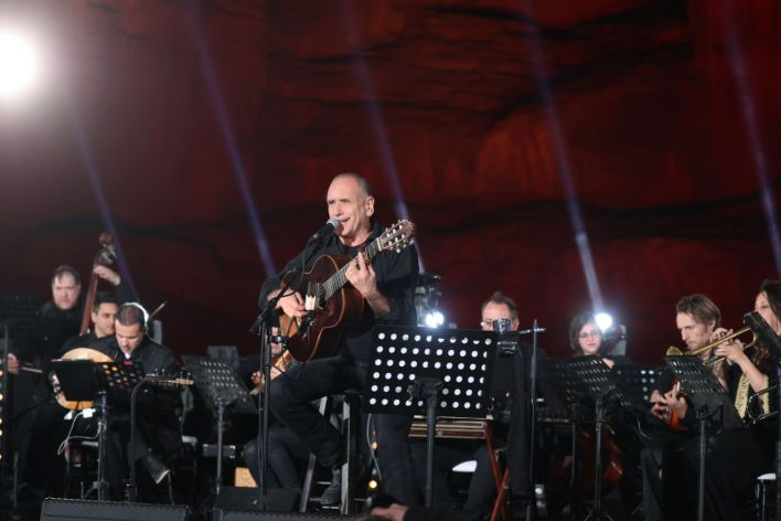 דיויד ברוזה - קונצרט למען השלום. צילום מוטי קמחי