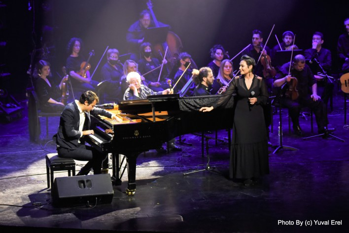 מירה עווד וגיא מינטוס בבית האופרה. צילום יובל אראל