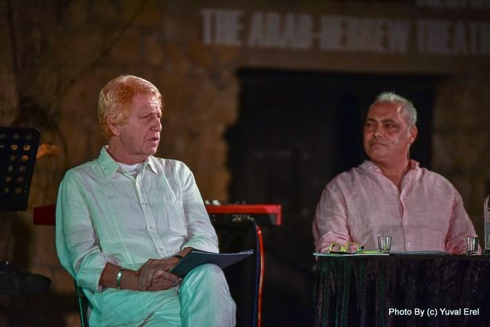 עופר פנחסוב ושמעון פרנס במופע מלכת הכרם. צילום יובל אראל